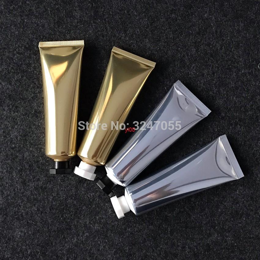 50 ml / g Kosmetik Silber / Goldschlauch Weiche Röhre für Produkt, Schönheit Gesichtsreiniger Squeeze-Röhre, Hautpflege-Sahne flaschehigh qualität