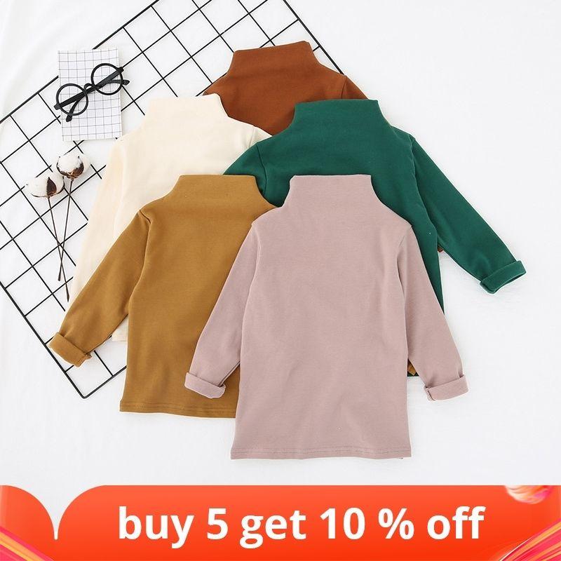 Осенние детские футболки Симпатичные с длинным рукавом.