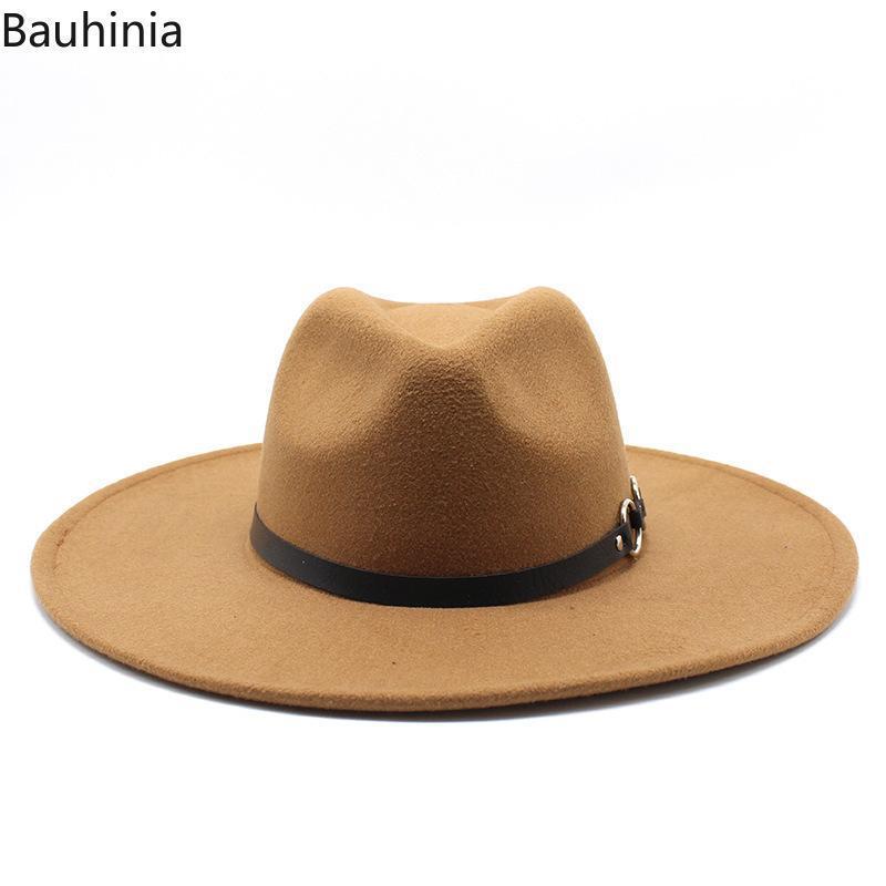 Широкие Breim Hats 2021 Classic Panama шерсть Fedora Hat повседневная мода джентльмен элегантная леди зима осень джаз sombrero cap