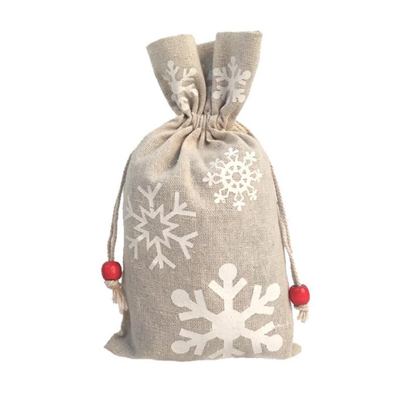 Sacos de presente HWC1865 homem 13 * 23cm saco de doces Árvore de saco de doces com natal gengibre boneco de neve saco sacos de natal 5 stypes santa cordão supp hhmu