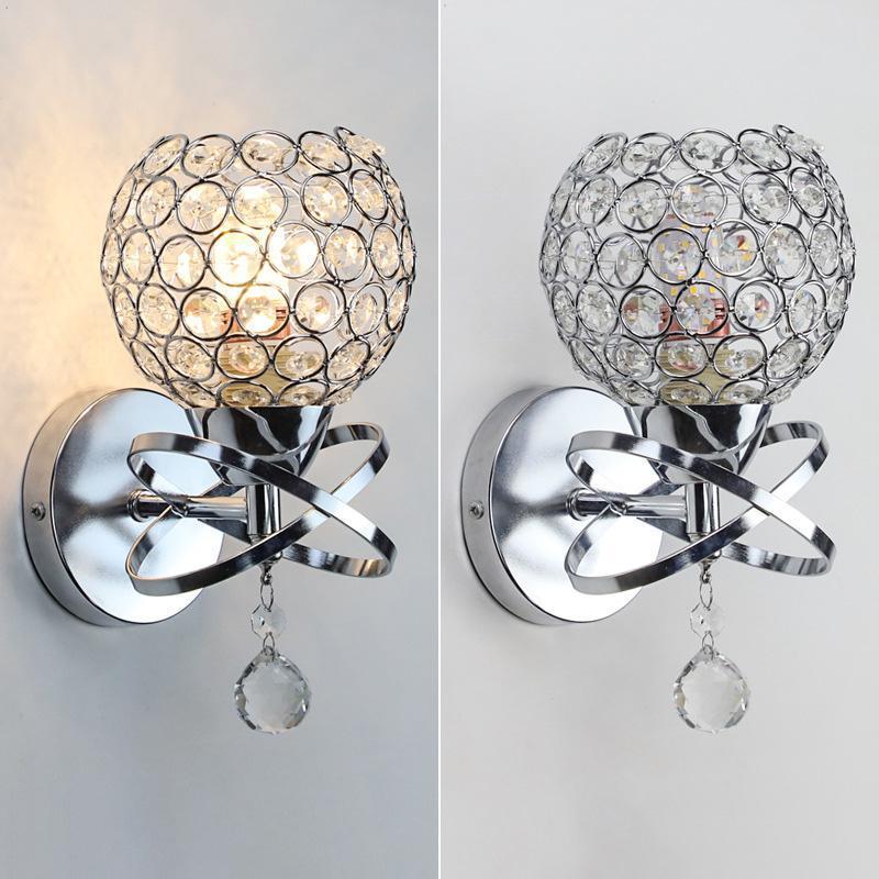 Настенная лампа E14 Крытый Освещение Кристаллические огни Украшения Прицела для современного Дома Лигтинг Золото / Щепка