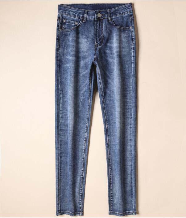 Nouvelle Strylle 19SS Summer Célèbre VLSS Casual Marque Designers Design Blanc Slim Jeans à la mode Moto Pantalons Pantalons Hommes Femme