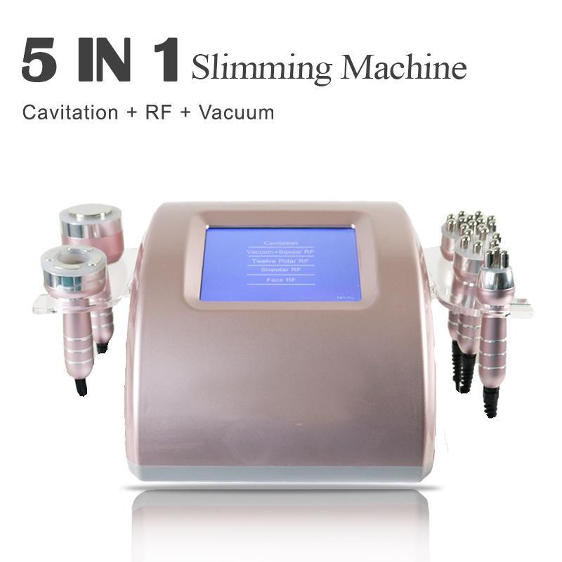 Tripolar RF Cavitation de la liposuccion de la cavitation Bio Ultrasound Ultrasound Machine Poids Perdre de poids Fat réduire le corps Shaper 5 en 1