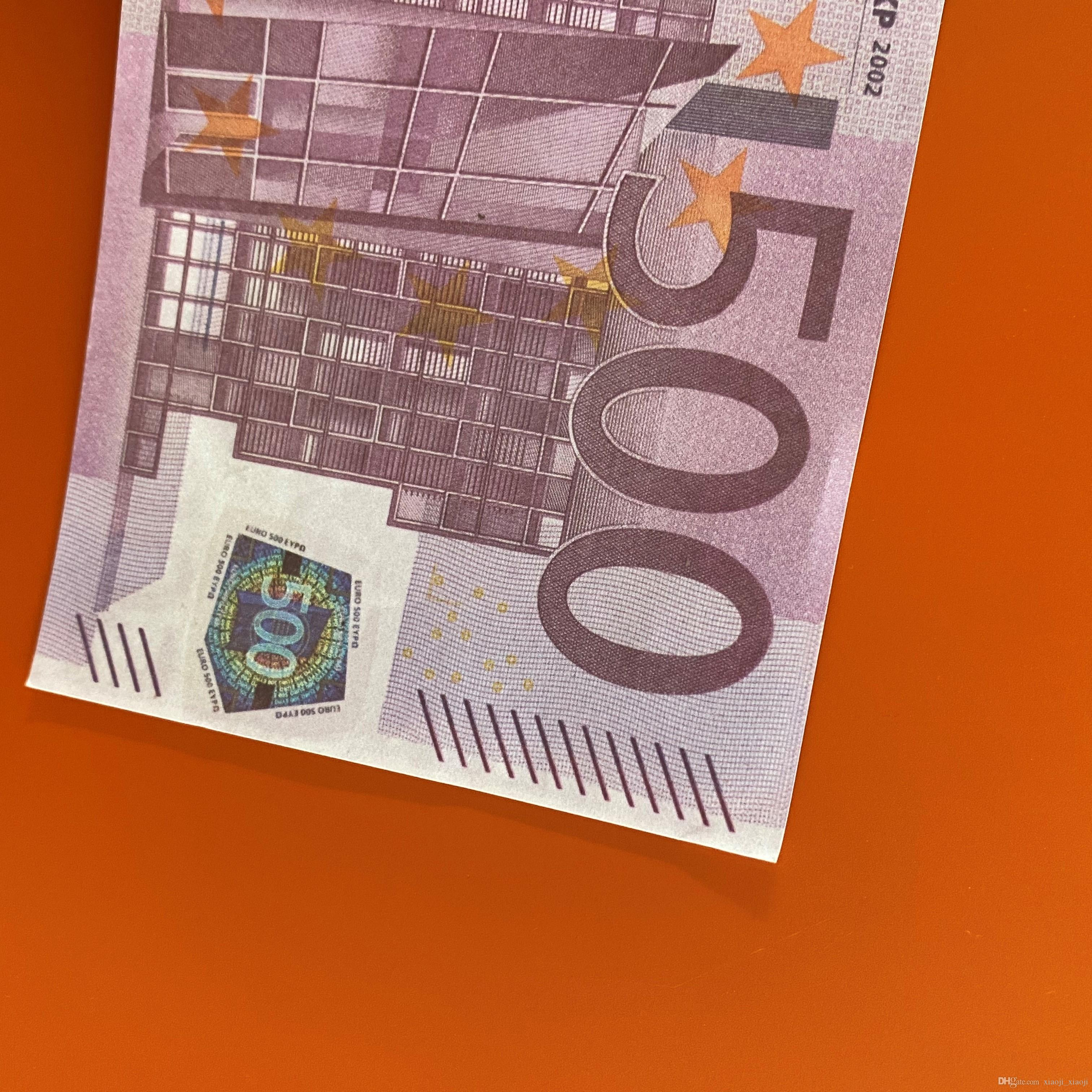 Banconota di qualità Euro denaro denaro High 500 regali di conteggio dei giochi Prop Billet Festive Party Prop Toys Collections Euro Lstqg