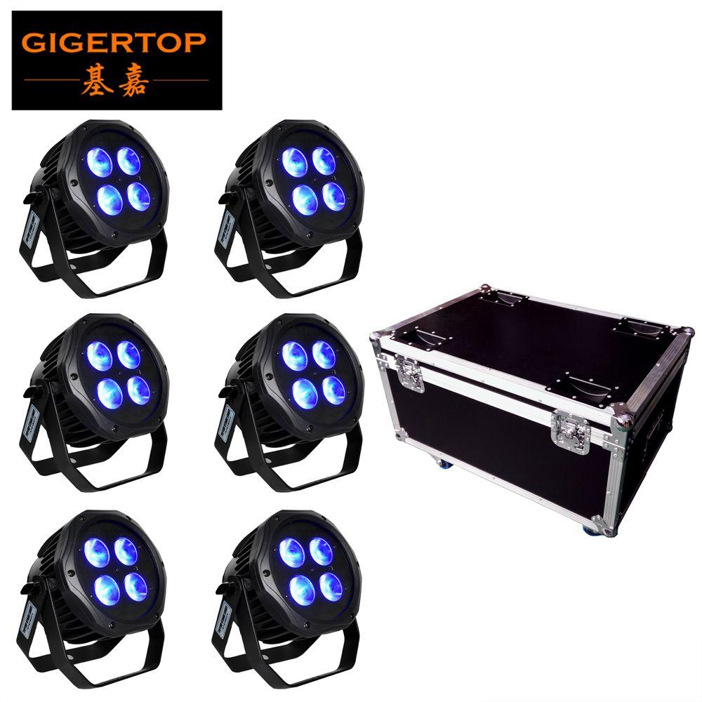 6in1 charge Flightcase pack 4x18W 6in1 RGBAW UV IP65 étanche à piles WIFI APP en option LED Par