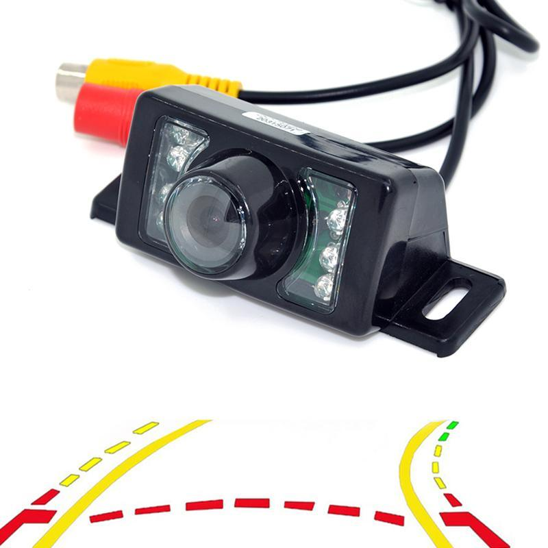 Variable Dynamic Trajectory Tracks Car Rear View Backup Camera for 7LED night Car CCD Auto Parking Assistance