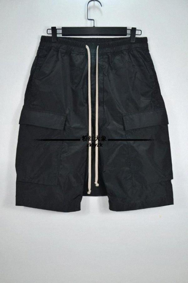 27-46 2.018 calças harem de Nova Men roupas GD cabeleireiro moda de rua Side Pocket curtas calças largas, mais trajes tamanho OUgU #
