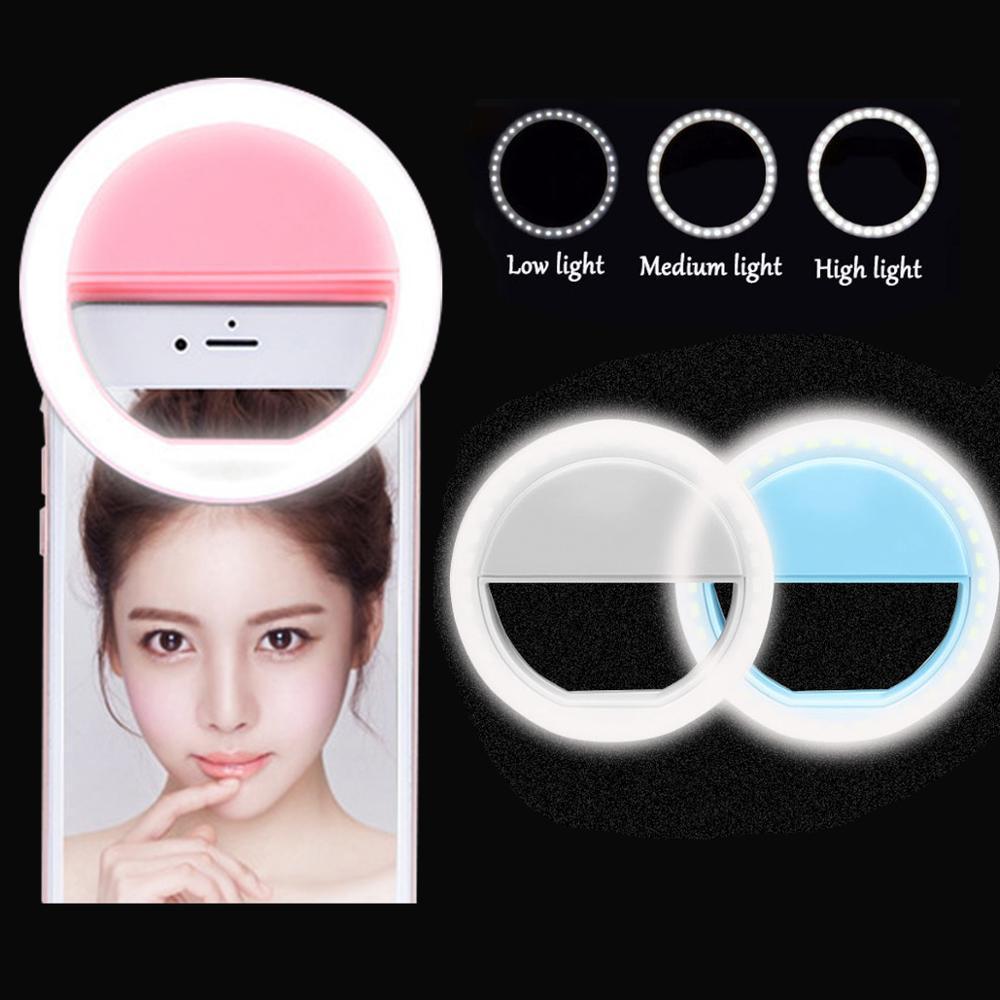 صورة شخصية LED حلقة ملء ضوء المحمولة موبايل تليفون 36 LEDS صورة شخصية مصباح 3 مستويات الإضاءة مضيئة الدائري كليب لجميع الهواتف المحمولة