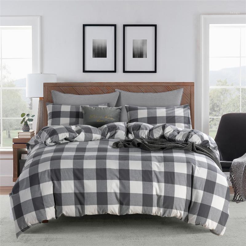 2020 Nuevo estilo chino estilo algodón lavado de cuatro piezas de textiles casero conjunto de ropa de cama Artículo king size edredón conjunto completo1
