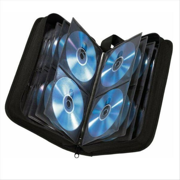 80 Zur Tasche Für Dischi CD Blu Hama Dvd Plat Mappe CD Ray Aufbewahrung Pwixp