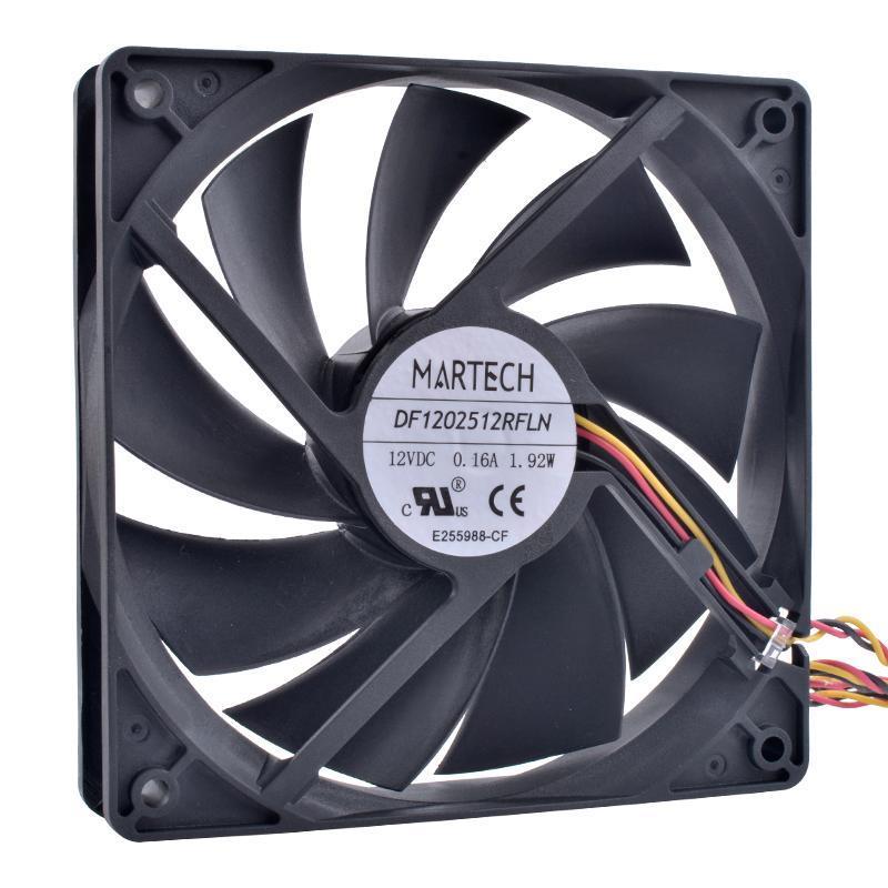 Revolução de resfriamento DF1202512RFLN 12cm 120mm fã 12025 12 V 3Pin Speed Monitoramento Super Quieto CPU Chassi Power Fan