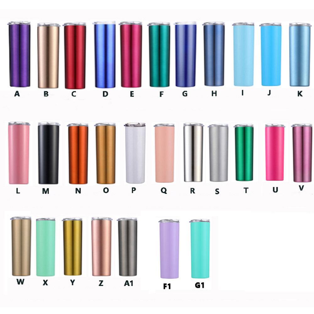 20 أوقية التسامي نحيل بهلوان فارغة الفولاذ المقاوم للصدأ بهلوان diy مستقيم أكواب فراغ معزول 600 ملليلتر سيارة بهلوان أكواب القهوة