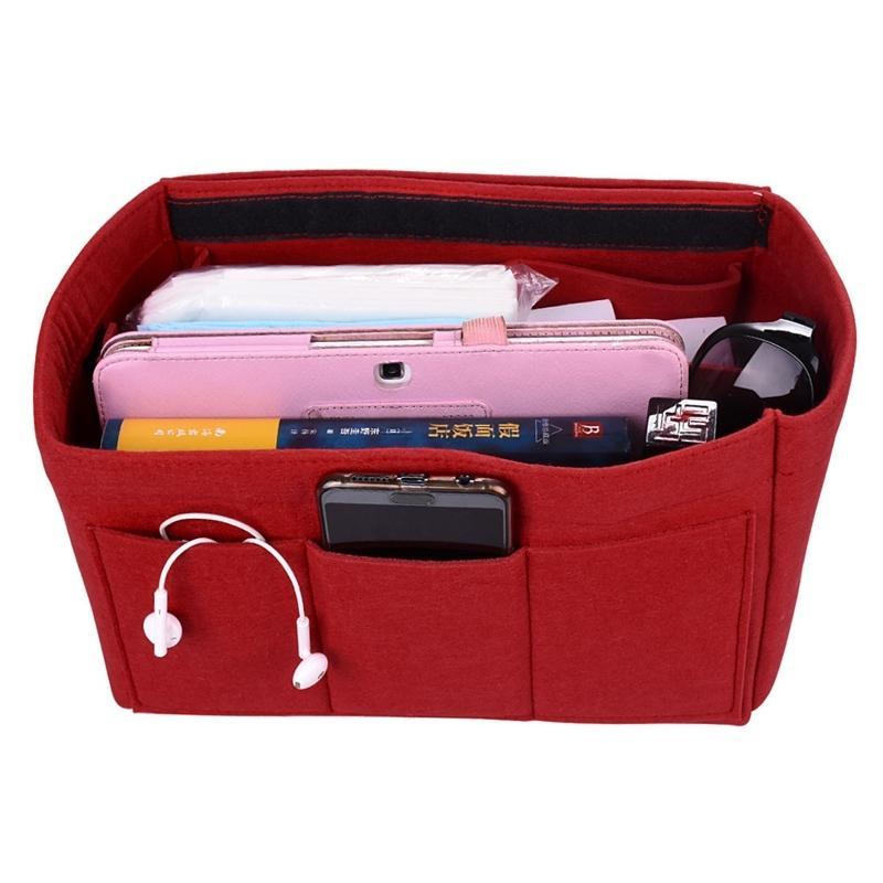 Hot Girl Storage de toilette Stores de maquillage dames Organisateur En feutre Insert pour sac à main Multi-fonctionnel Travel Cosmetic Sac Y200714
