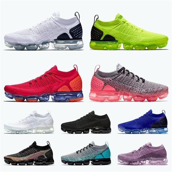 Top Vamapor respirante Fly Knit 2.0 Chaussures de course pour hommes, femmes TN PLUS Blanc Noir Rouge Rose Orbit Air coussins Athletic Trainers Chaussures de sport