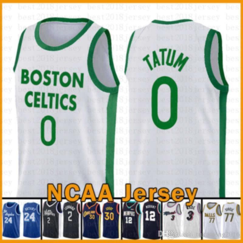 NCAA JAYSON 0 Tatum BostonCelticsNouveau Jersey de basket 2020 2021 Nouvelle Nikola Jamal 27 Murray 15 Jokic Damian 0 Lillard Devin 1 livre