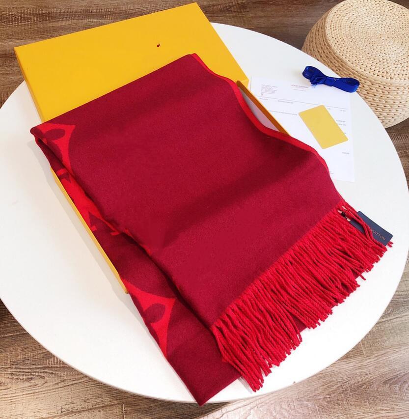 2021 Donne di alta qualità Pashmina ha rubato autunno inverno sciarpa in lana invernale morbido caldo spessomato tassel lettera sciarpa lussurys rettangolo stampato scialle