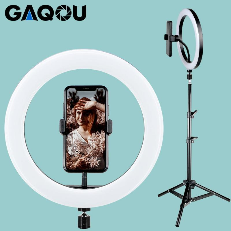 10inch LED Ring Light Photo Studio Camera Photography Dimmable Video light for Youtube Makeup Selfie with Tripod Phone Holder