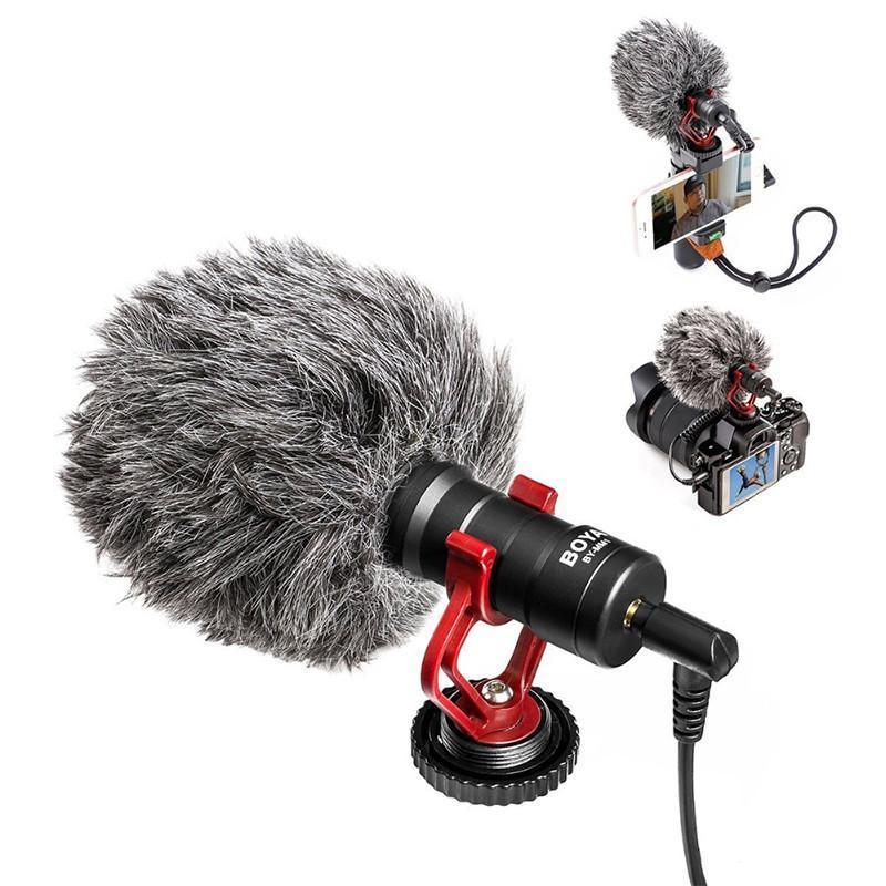 Microphones Boya BY-MM1 MM1 Microphone d'enregistrement vidéo pour la caméra DSLR Smartphone OSMO Pocket YouTube Vlogging Téléphone Android