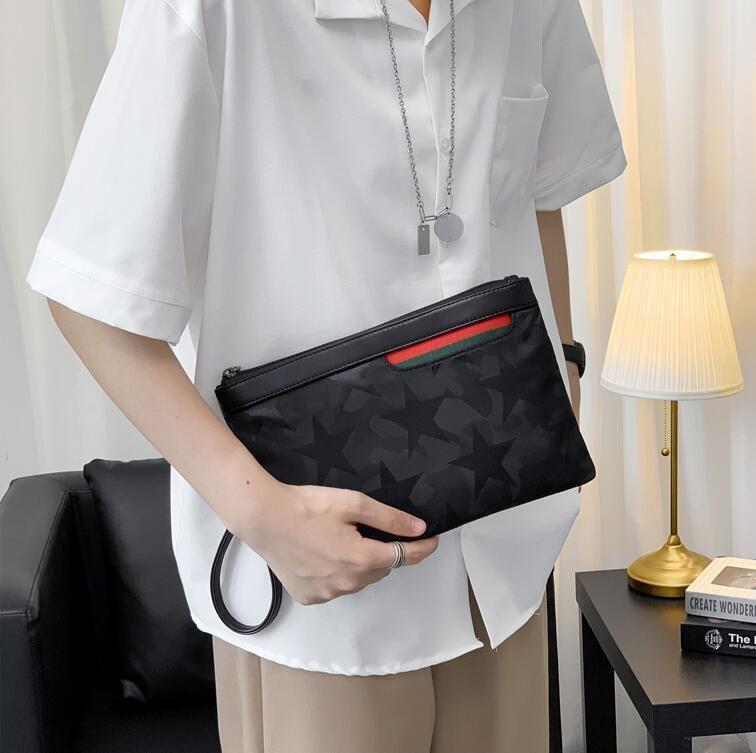 men handbag new printed camouflage men clutch multifunctional waterproof nylon business envelope new contrast fashion leather wallet