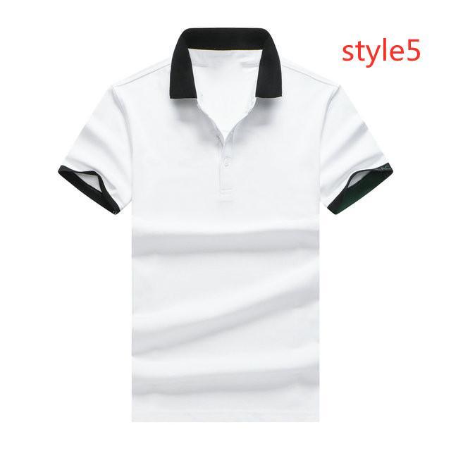 FRANCIA CROCODILES Camiseta Camiseta de manga corta de manga corta de los hombres Camisa de ropa de algodón negro negro blanco con cuello