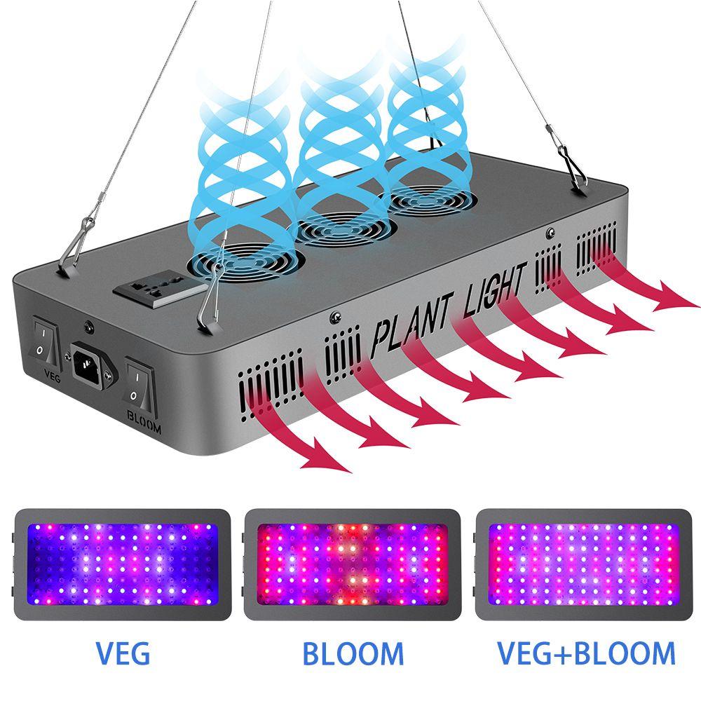 Led wachsen Licht 600W 900W 1200W Full Spectrum Led Zelt Covered Grüne Häuser Lampe Betriebslampe wachsen wachsen für Veg Blüte Aluminium DHL