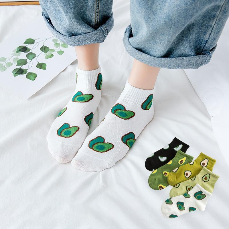 barco das mulheres verão nova de algodão leve abacate socksboat meias socksgreen invisível finas meias invisíveis 51pP4