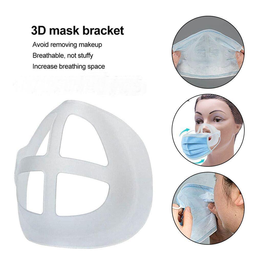 3D Masque Support Lipstick Protection Stand Rails Pousseau-Poussé Intérieur Améliorer la respiration Sans douceur Solder Face Porte DHL Free