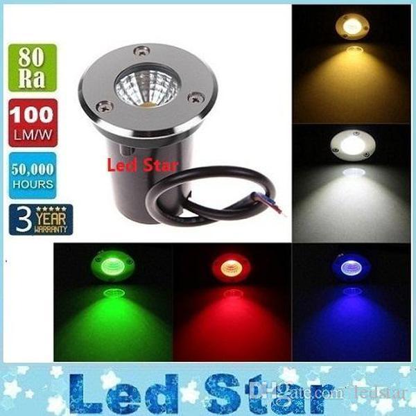 Nova luzes ao ar livre Lâmpada enterrada LED lâmpada subterrânea LED Inground Light Garden 3W AC85-265V Frete Grátis