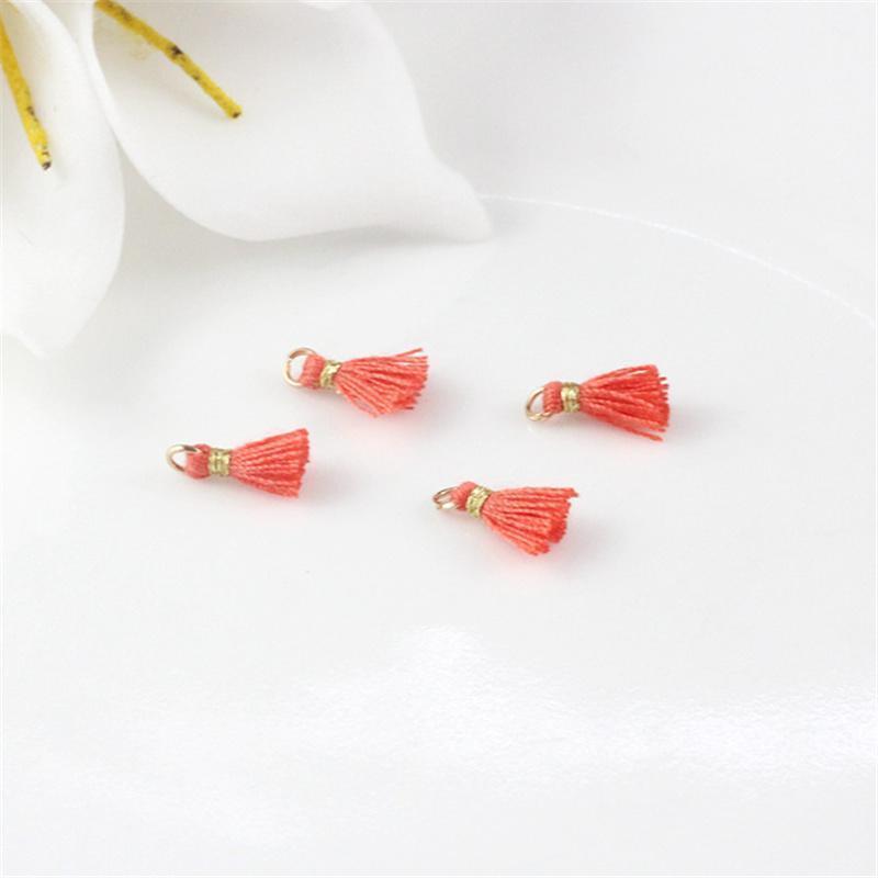30pcs 1cm Cotton Thread Mini Metal Hanging Ring Tassel Trim Pendant Diy Craft Arts Jewelry Earrings Decor Materials Fringe Trim H jllKIz
