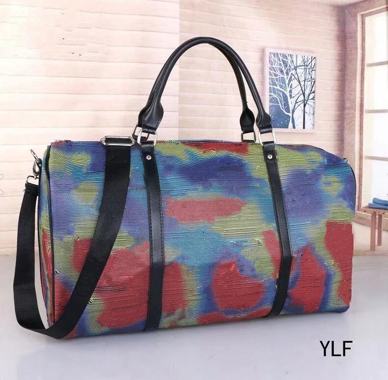 2021 Mulheres e Homens Sacos Nova Moda Homens Mulheres Travel Bag Duffle Saco Bolsas Bagagem Bolsas Grande Capacidade Esporte 50cm Saco