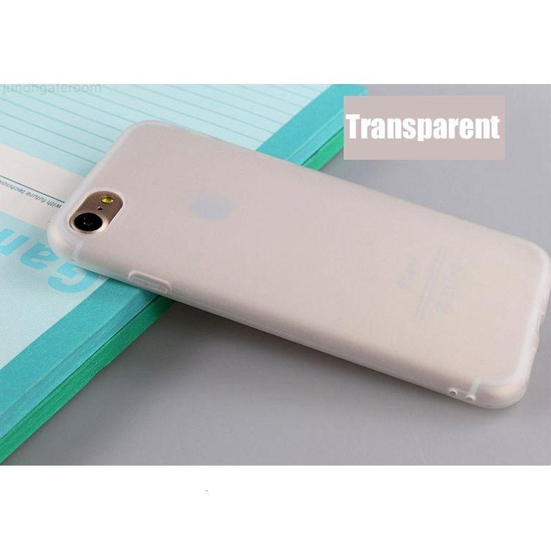 Yüksek Qulity TPU Katı Durumda Mat Telefon7 7 Artı 6 6 S 6 Artı Buzlu Şeker Renk Yumuşak Telefon Arka Kapak 5 5 S için