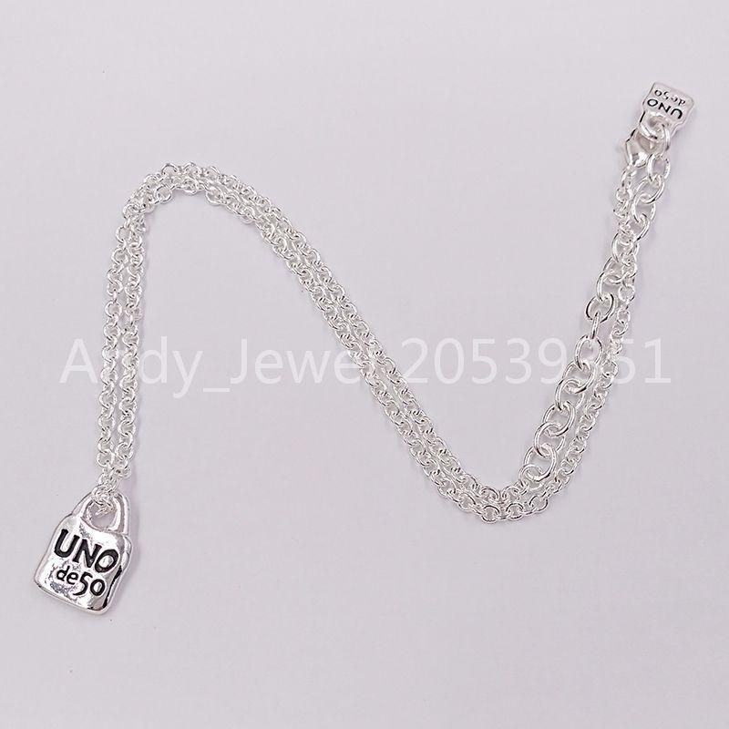 Autentica collana catena 4 amicizia braceletsuno de 50 placcato gioielli adatti al regalo in stile europeo COL1366MTL0000U