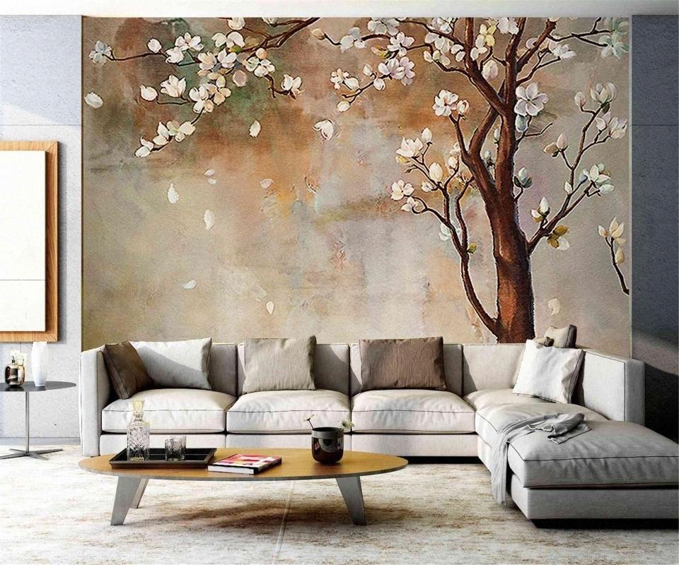 Дерево Листья Картина маслом Настенная картина интерьер Комната фон обои Любовь обои Любовь обои YvFl #