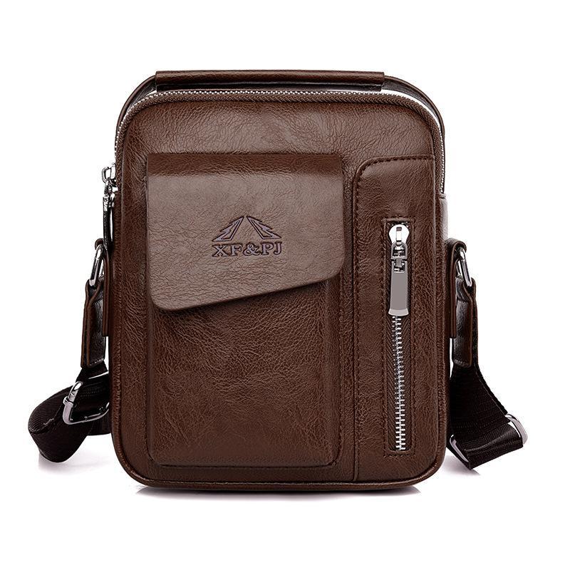 SUUTOOP Erkekler PU Deri İş Anti-Hırsızlık Su Geçirmez Omuz Çantaları Crossbody Çanta Messenger Çanta Erkek Q1230 Için Kısa Yolculuk Paketi