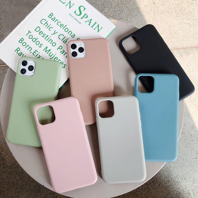caso para iphone 12 11 pro xr xs max 7 8 6S mais luxo iphone 12 mini acessórios do telefone fosco shell TPU fina suave cobertura