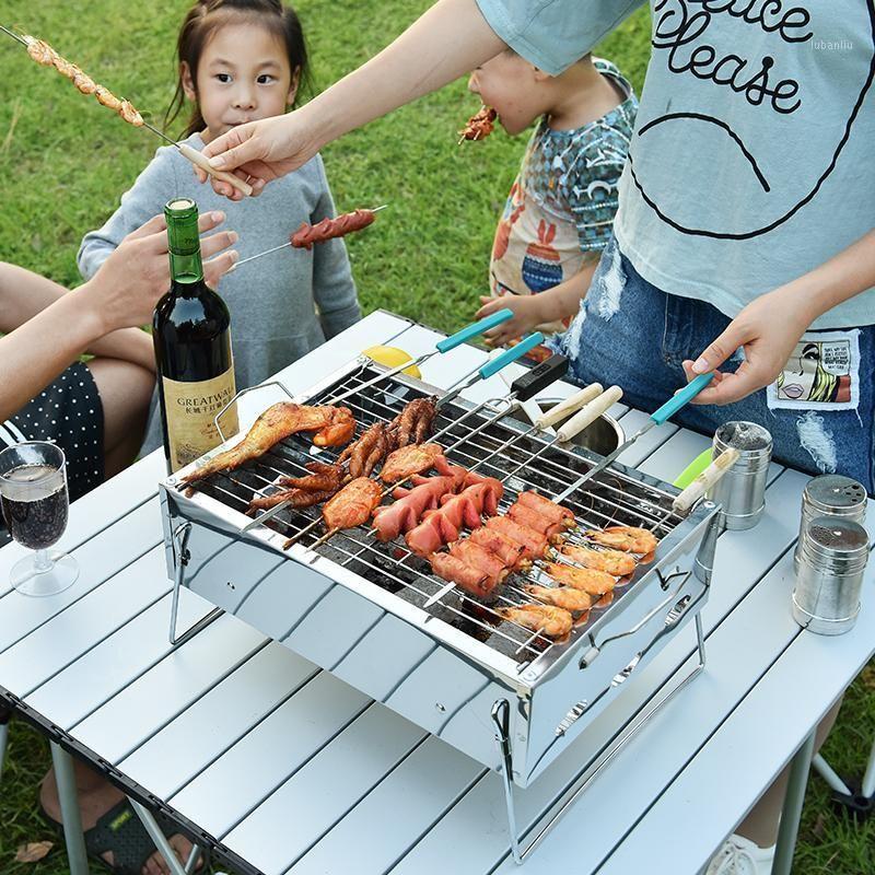 Acampamento cozinha kbxstart churrasco dobrável churrasco churrasco churrasco charcoal grade fogão ao ar livre camping acessórios para piquenique para Home Park use1