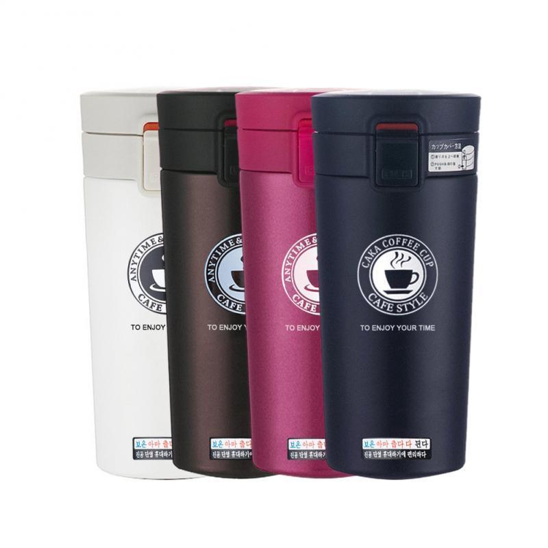 380 ml de flacons de vide d'acier isolant tasse thermo double mur en acier inoxydable tasse thermoses portables boissons boissons café LJ201218