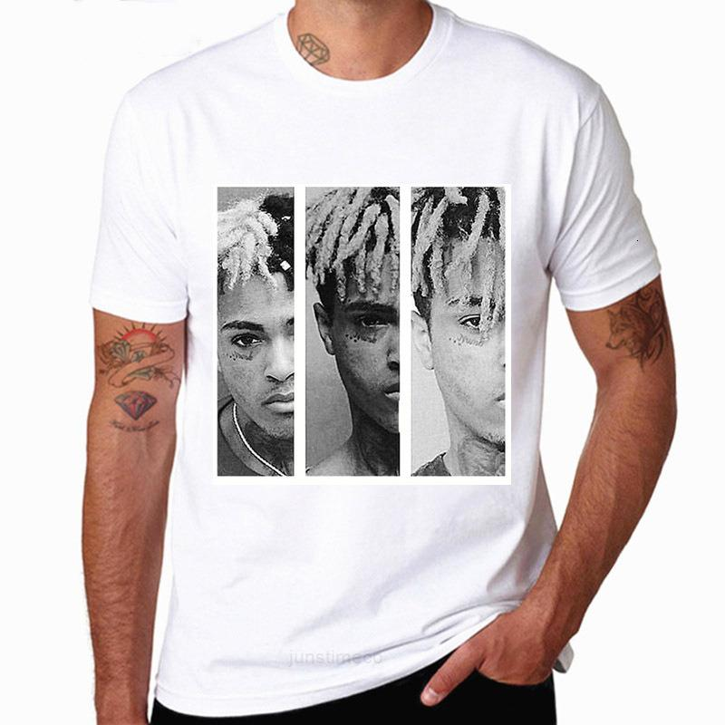 Camiseta de manga para hombre de la cantante corta americana Xxtantacion desgaste Hiphop de los hombres Faudh