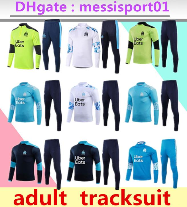 2020/21 Olympique de Marseille TRACKSUIT Training suit soccer SET L.GUSTAVO PAYET 2020 2021 new OM Marseille football coat TRACKSUIT