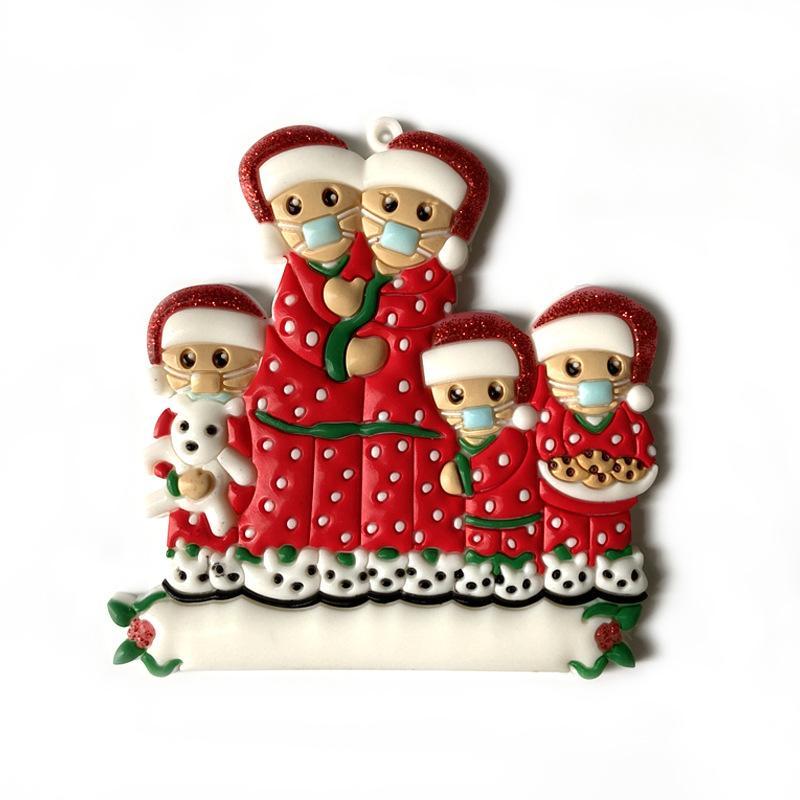 Enfeites de natal PVC 2020 ornamento do pendente Família do boneco social Distancin partido do presente Xmas Decoração NWB2578