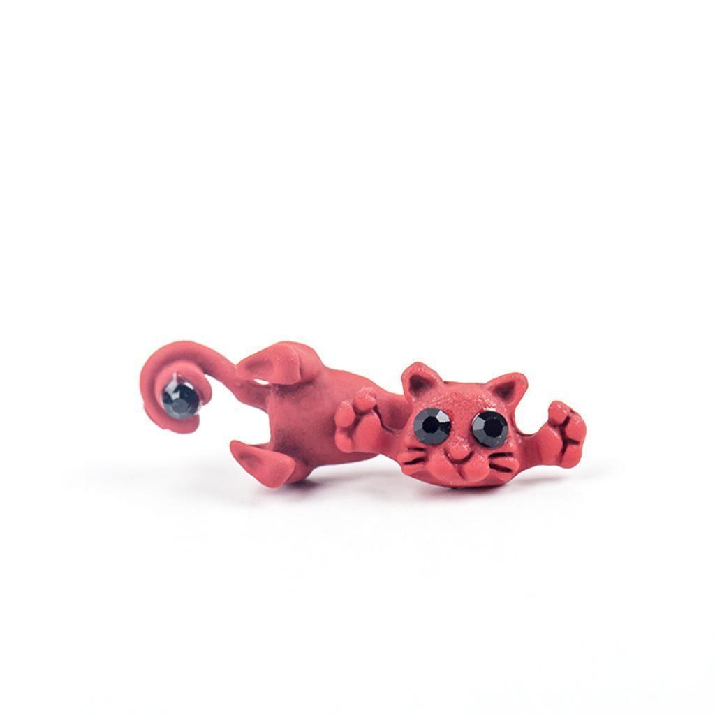 Серьги многоцветность Классический Мода Cute Cat серег серьги стержня