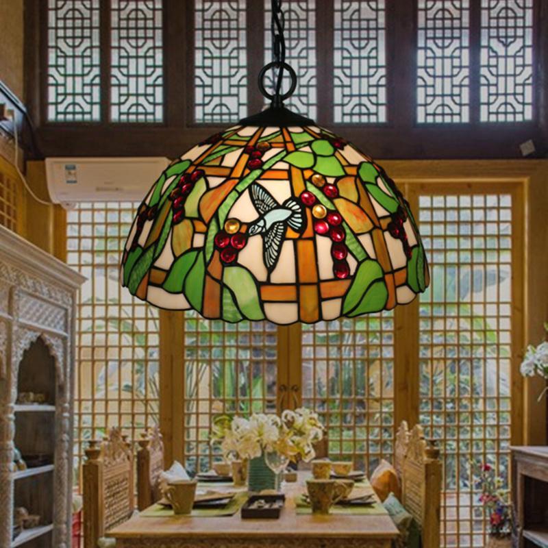 16 Inch Tiffany Pendant luminária do clássico do restaurante Luzes pendentes criativa Bar Cafe Lâmpadas Pingente
