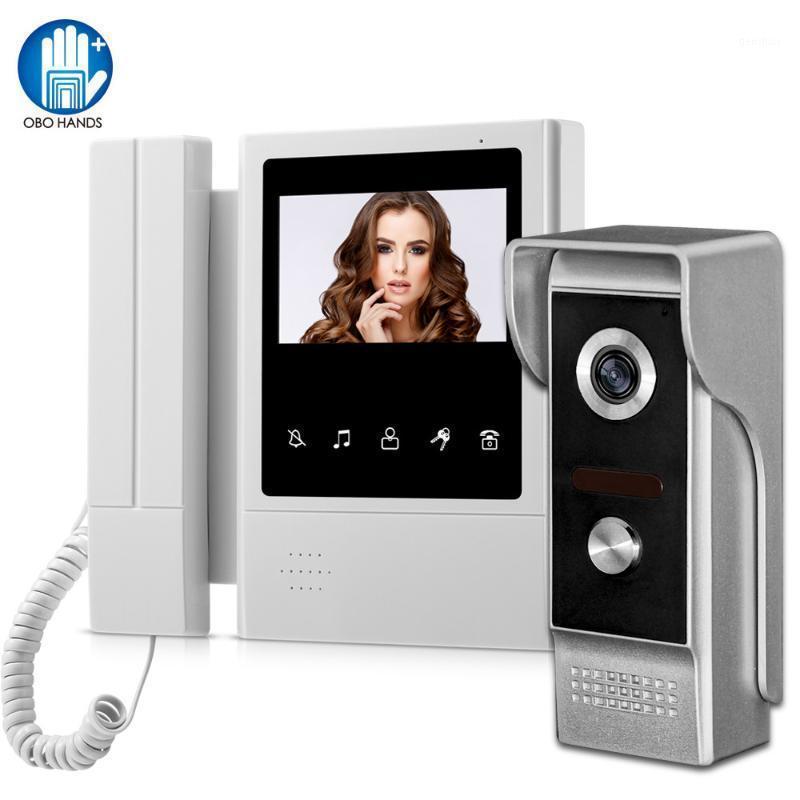 فيديو باب الفيديو 4.3 بوصة المنزل إنترفون الهاتف الجرس doorphone للماء 700tvl كاميرا ثنائية الاتجاه الصوت IR للرؤية الليلية 1