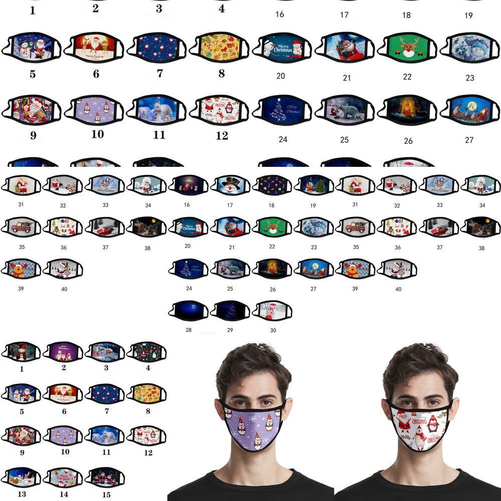 Desenhos animados Natal adulto máscara máscara anti-nevote de algodão lavável máscara rosto máscara máscara máscara máscara design fashionasks garoto