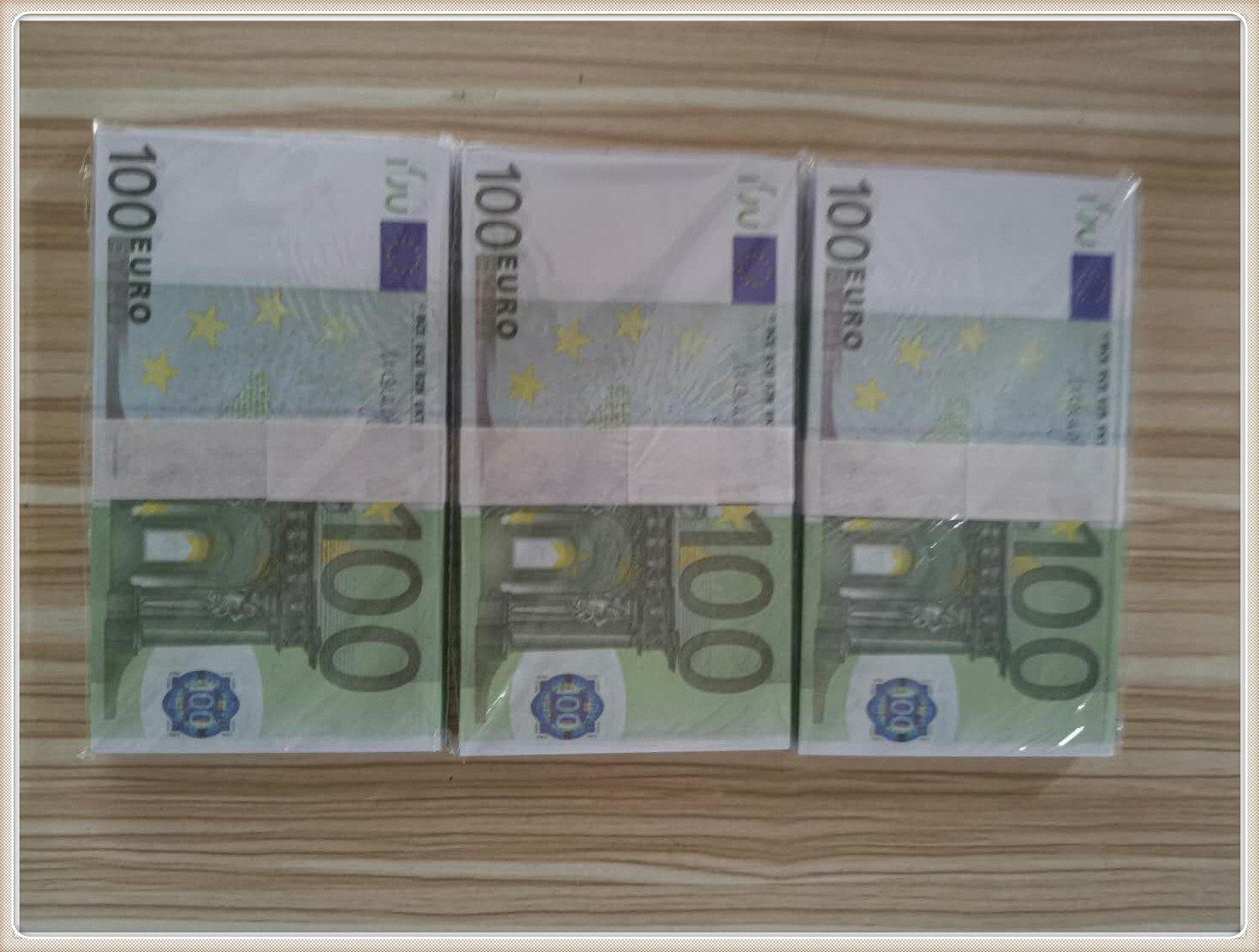 New Magic Billet Gift Money Paper Euro 100 juguete falso Euro Boleto EURO Niños LE100-21 Faux Prop Sops LQGFW CRCLO