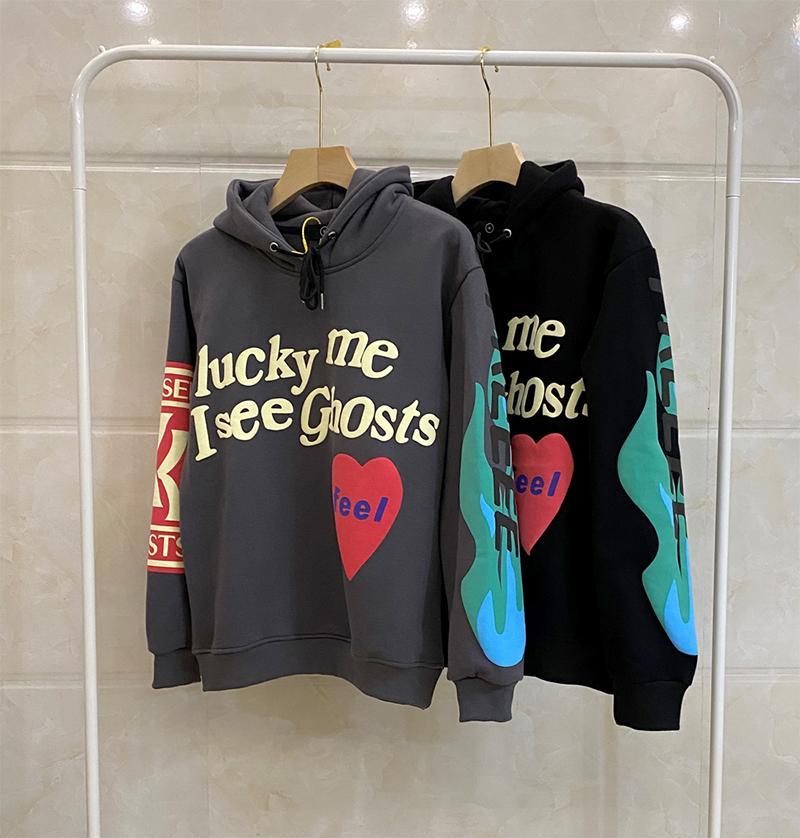 3D Schaumdrucken Glücklich mich I Hoodie Männer Frauen Kanye West Pullovers Sweatshirts Kinder siehe Geist