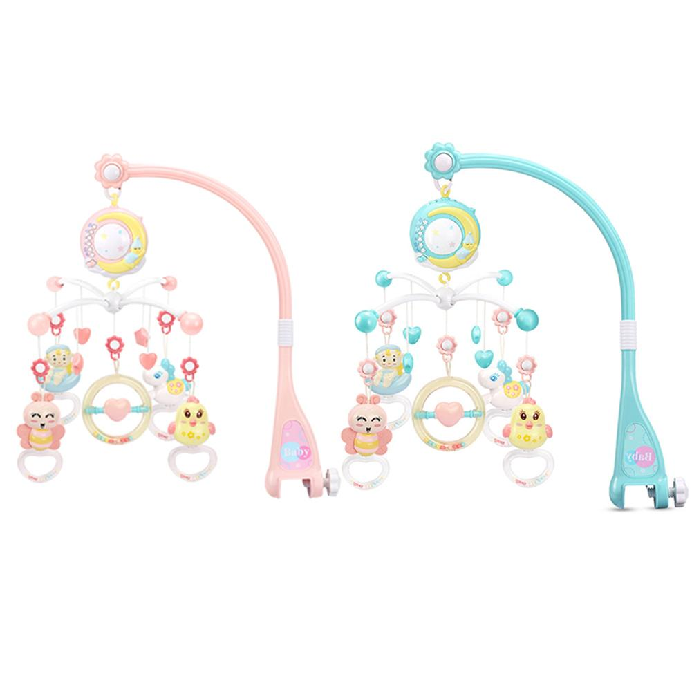 Baby cradle clock mobile music box education toy box crib baby toy 0-12 months baby