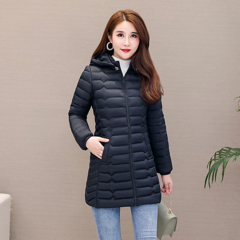 Quente Inverno New Mulheres de Down Versão Coreana Da cintura Luz, moda All-jogo acolchoado Jacket 1919 Asia Tamanho l 5XL