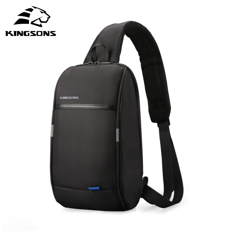 Kingsons Small Over Shoulder For Men One strap Chest Bag Leisure Travel 10.1 inch Crossbody Backpack USB Charging Q1230
