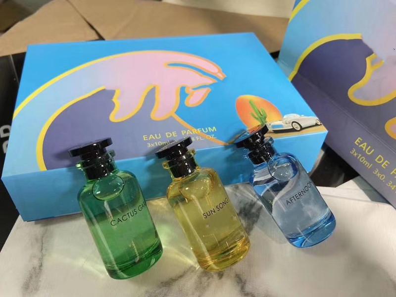 Nueva venta famosa con el cuadro 3 en 1 Conjunto de perfumes Tarde 3pcs * 10 ml Botellas Fragancia para hombres o mujeres de larga duración